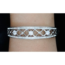 20006 pulsera brazalete de novia y fiesta de pedrería