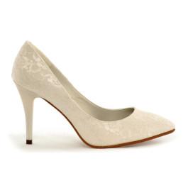 Selena zapatos de novia: marfil claro