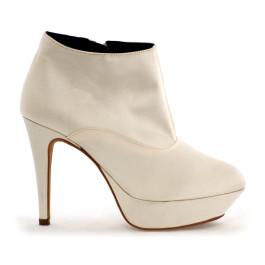 Miriam botín de novia: blanco roto