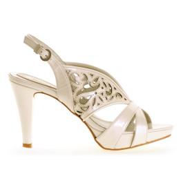 Abril zapatos de novia: color: marfil claro _ Abril wedding shoes_  light ivory