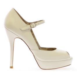 Marilyn zapatos de novia: blanco roto
