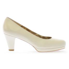Perla zapatos de novia, blanco roto
