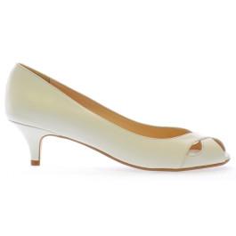 Julieta zapatos de novia: marfil claro (blanco roto
