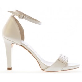 Marga sandalia de novia: blanco roto