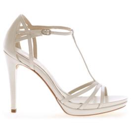 Mayka sandalia de novia: blanco roto