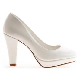 Matilde zapatos de novia blanco roto