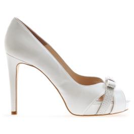 Wilma peep toes de novia