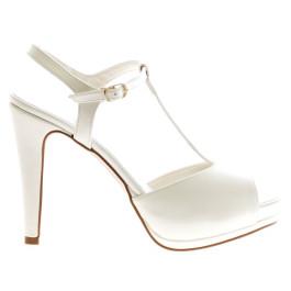 Riana zapatos de novia blanco roto