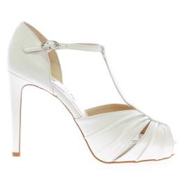 Katia zapatos de novia blanco roto