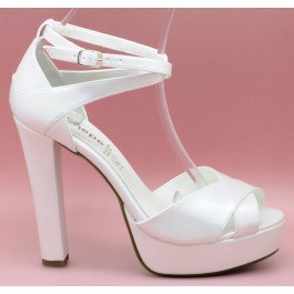 Sonia 12cm zapatos de novia: blanco roto