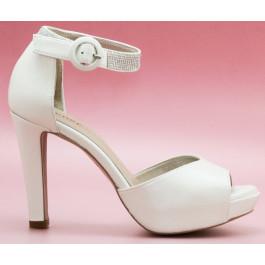 Juno pedrería zapatos de novia, blanco roto