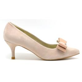Sol zapatos de novia y fiesta nude lazo