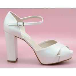 Ainara zapato de novia cruzado