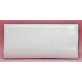 Gael bolso de fiesta, liso plata claro