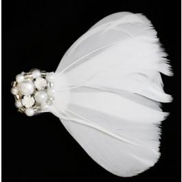 A_120 Plumas con perlas y pedrería