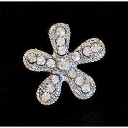 A_47 Broche flor de pedrería, adornos para zapatos, shoe clip