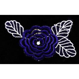 Flor de encaje azul oscuro _ adorno para calzado
