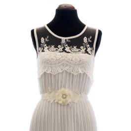 Cinturón para vestido de novia con broche de encaje C_02