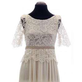 Londres vestido de novia con cinturón añadido