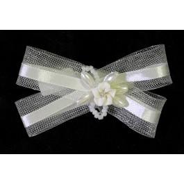 C_48  tocados de novia lazo con perlas