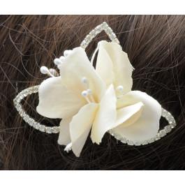 C_84  tocados de novia flor marfil