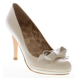 Lis zapatos de novia: blanco roto