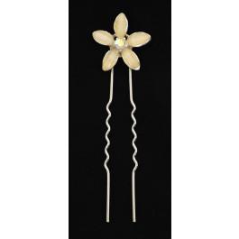 Flor cristal horquilla de moño para novia - wedding hairpin