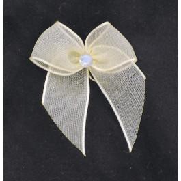 A_1 Lazo pequeño de organza con pedrería, adorno para zapatos, shoe clip