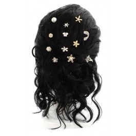 GP110 Bridal hairpin with a rhineston