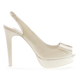 Imma zapatos de novia: marfil claro