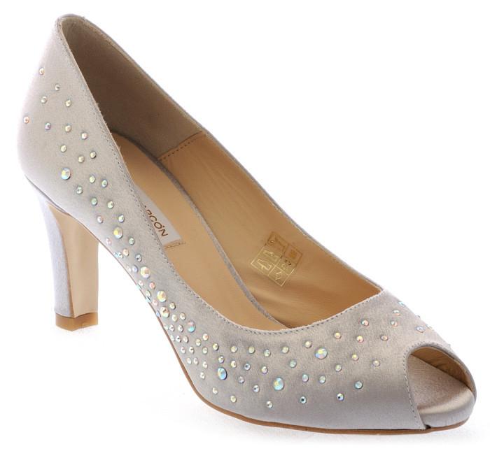 zapatos gris plata Susana de fiesta zd6wqxU