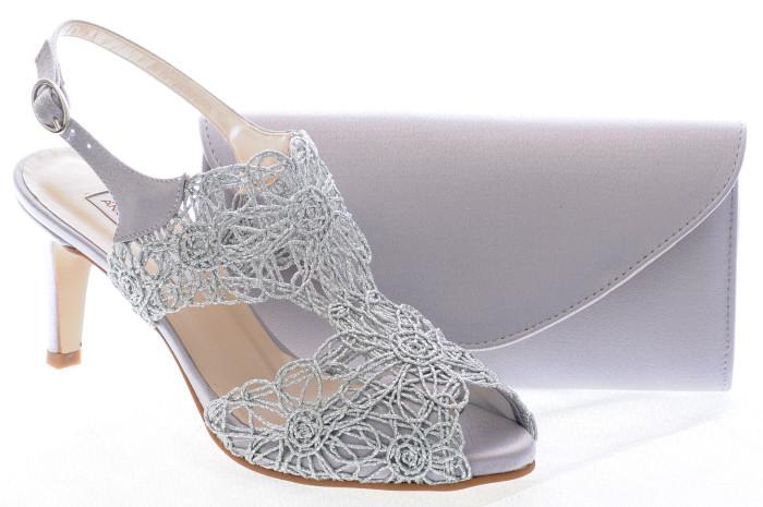 sandra sandalias de fiesta plata