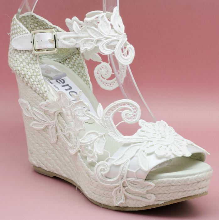 f15e0faa Aurora alpargata de novia, blanco roto ...