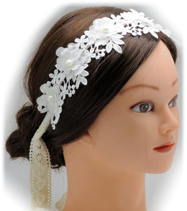 C 62 tiara diadema de novia de encaje - Diademas de encaje ...