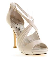 Luna sandalia de novia _ blanco roto