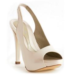 Imelda zapatos de novia: marfil claro