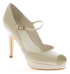 Marilyn 9,5 cm zapatos de novia: blanco roto