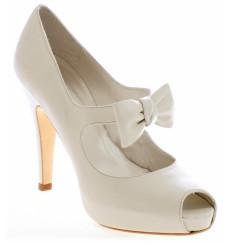Mariona zapatos de novia: blanco roto