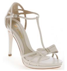 Mayka sandalia de novia con lazo