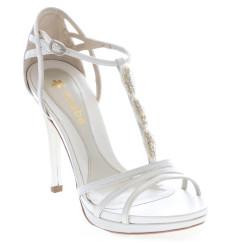 Mayka sandalia de novia con pedrería