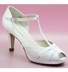 Lourdes 8cm zapatos de novia