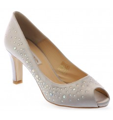 Susana zapatos de fiesta gris plata