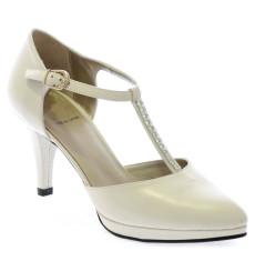 Ines zapatos de novia: blanco roto