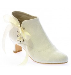 Valeria botines de novia: blanco roto