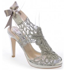 Sabrina sandalias de fiesta, plata