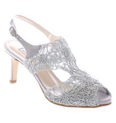 Sandra zapatos de fiesta plata