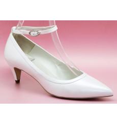 Nadia zapatos de novia blanco roto