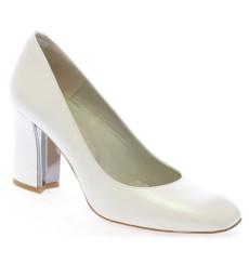 Lali zapatos de novia blanco roto