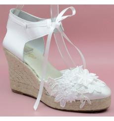 Love alpargata de novia, blanco roto