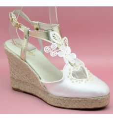 Trinidad wedding espadrille, lighy ivory
